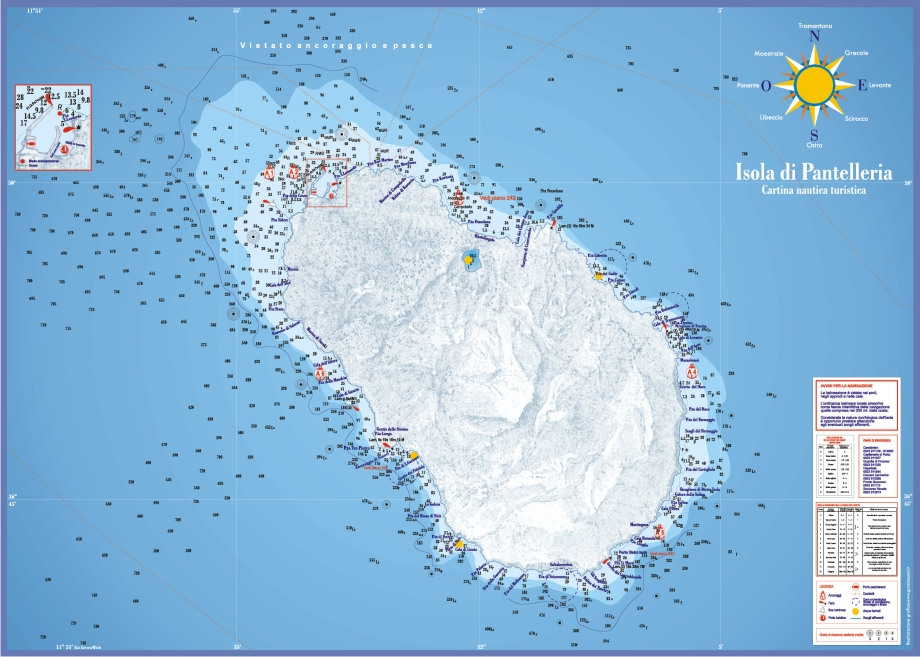 Lampedusa Cartina Dettagliata.Gira L Isola Pantelleria